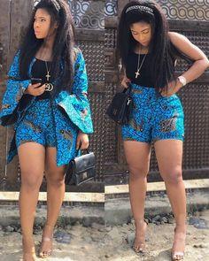 13 Gorgeous African Prints Shorts For Sweet-Sixteens Short African Dresses, African Print Dresses, African Fashion Dresses, Ankara Fashion, Ethnic Fashion, Woman Fashion, Fashion Outfits, Ankara Jumpsuit, Ankara Dress