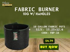 fabric burner 10 gallon fabric pot with handles the fabric burner 10 gallon fabric pot