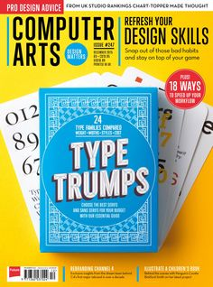 #Computer #Arts Magazine 247. Chosse the best #serifs and #sansserifs for your budget with our essential guide!