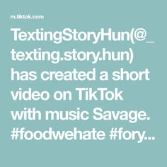 TextingStoryHun( has created a short video on TikTok with music Savage. Morning Dew, Retail Therapy, Carbon Fiber, Texting Story, Texts, Projects To Try, Create, Savage, Videos