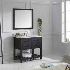 Gallery For Website Shop for Virtu USA Caroline Estate inch Single Bathroom Vanity Set with Faucet