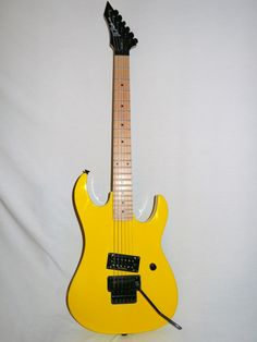 Indian Creek Guitars -  BC Rich Gunslinger Retro Electric Guitar with Floyd Rose Tremolo, Yellow, (http://www.indiancreekguitars.com/bc-rich-gunslinger-retro-electric-guitar-with-floyd-rose-tremolo-yellow/)