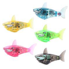 아기 물고기 장난감 활성화 배터리 구동 로봇 깜박이는 상어 장난감 인터랙티브 물고기 장난감 어린이