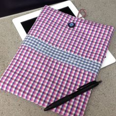 iPad Air case made from upcycled shirts ♻️