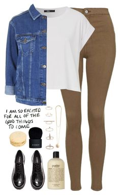 """""""The Rain//Oh Wonder"""" by thelonelyheartsclub ❤ liked on Polyvore featuring Topshop, H&M, Vanessa Mooney, philosophy and Givenchy"""