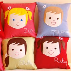 personalized pillows for kids--SUPER cute... and so doable!