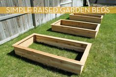 """Make It: Raised Garden Beds In Under Three Hours"" Hmmm.... might need to consider redoing ours..."