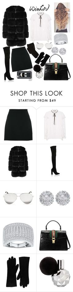"""Untitled #111"" by amanda-silva-7 ❤ liked on Polyvore featuring Givenchy, Gucci, Jefferies Socks, Gianvito Rossi, Victoria Beckham, Allurez, Christian Dior and Fendi"