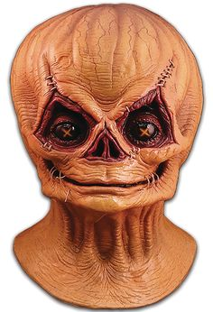 This amazing replica was sculpted by Russ Lukich with help from Trick r Treat writer and director Michael Dougherty. Michael provided the actual screen used mask for reference and personally oversaw the sculpture and paint master to create the most accurate Sam mask ever produced! Don't miss your chance to get Halloween's newest icon, Sam, and make sure to pick up the rest of your Trick r Treat Sam Costume.