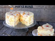 as minca o felie de tort diplomat zice petruta dinu Romanian Food, Hungarian Recipes, Yams, Vanilla Cake, Sweet Treats, Cheesecake, Mousse, Food And Drink, Caramel