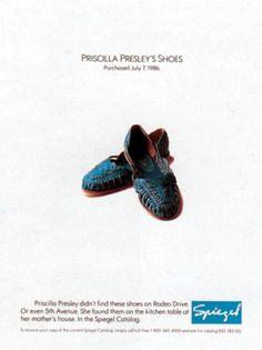 Read more: https://www.luerzersarchive.com/en/magazine/print-detail/spiegel-14408.html Spiegel Priscilla Presley´s shoes. Purchased July 7, 1986. Tags: McConnaughy Stein Schmidt Brown, Chicago,Jim Schmidt,Tom Mcconnaughy,Bjornson Photography, Chicago,Spiegel