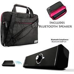 NineO Nylon Shoulder Bag Carrying Case For Microsoft Surface Pro 2 Surface 2 Surface Pro Surface Tablet  Bluetooth Speaker ** See this great product.(This is an Amazon affiliate link and I receive a commission for the sales)