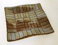 Fused Glass Plate Fused Glass Dish with by WindomArtGlass on Etsy