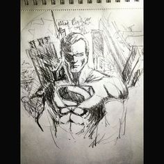 #drawing #draw #sketch #sketchbook #lifedrawing #artwork #artoftheday #artsagram #artista #instaart #instasize  #grey #gri #siyah #black  #hero #sperhero #art #blues #paint #man #superman #klarkkent #quick #quickesketch #comic #marvel Osman Sarı