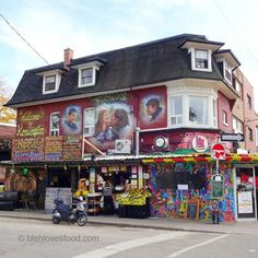 Kensington Market, Toronto, Ontario — by Divya Desa / blehlovesfood Golden Horseshoe, Toronto Ontario Canada, Architecture Sketchbook, French Country Farmhouse, Places To Travel, House Appliances, Travel Photography, Around The Worlds