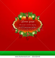 Christmas vector greeting and invitation card.