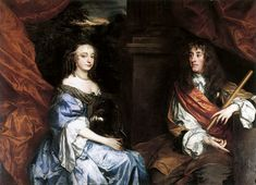 "James and Anne Hyde in the 1660s, by Peter Lely,marriage-3.09.1660 in London.Their first child,Charles,was born less than two months later,but died in infancy,as did five further sons and daughters.Only 2 daughters survived: Mary (born 30.04.1662) and Anne (born 6.02.1665).Samuel Pepys wrote that James was fond of his children and his role as a father,and played with them ""like an ordinary private father of a child "",a contrast to the distant parenting common with royalty at  the time."