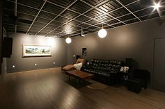 Possible ceiling idea for music studio Dropped Ceiling, Ceilings, Sweet Home, Ceiling Ideas, Salon Ideas, Studio, Building, Galleries, Basement