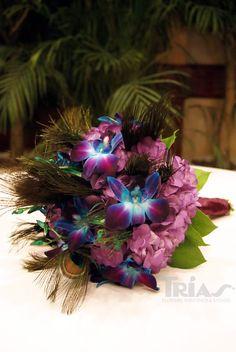 Bridal Bouquet #PeacockWeddingTheme