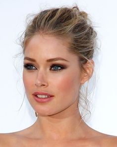 LOVE HER MAKE-UP!- & I like that she has a very easygoing up-do, it makes things fresh feeling, not ALL too FANCY!