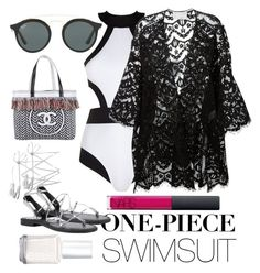 """Monica"" by littlemoon-19 ❤ liked on Polyvore featuring Oye Swimwear, Chloé, Ray-Ban, Chanel, NARS Cosmetics, Essie, polyvorecontest and onepieceswimsuit"