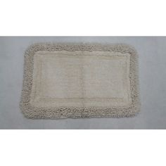 "Ess Ess Exports Westlake Bath Rug Color: White, Size: 17"" W x 24"" L"