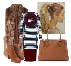"""""""Fur Vest"""" by apostolicgirl85 on Polyvore featuring Related, Forever 21 and LA77"""