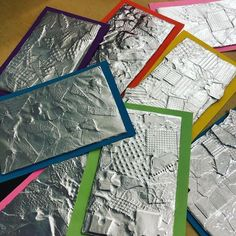 Kita Ideen 2019 Kindergarten Texture Collages So Exciting To Rub The Foil And See Kunstunterricht Collages Exciting foil frottage kunstunterricht Ideen Kindergarten Kita Rub Texture