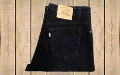 Vintage Levis 15951 Jeans USA Made 1990s Womens Mom High Waisted White Tab Relaxed Fit Tapered Leg Black Denim W34 L29 by BlackcatsvintageUK on Etsy