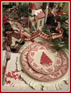 Rosemary and Thyme: Fun and Festive Christmas Tablescape