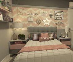 construindominhacasaclean's photo on SnapWidget Beautiful Bedrooms, Home Decor Bedroom, House Rooms, Home Decor, Room Inspiration, Bedroom Inspirations, Room Decor, Girl Bedroom Decor, Dream Rooms