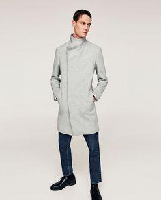 Image 4 of LIGHT GREY COAT from Zara