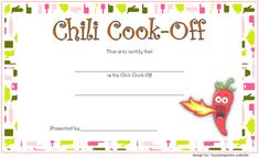 11 Best Chili Cook Off Award Certificate Templates FREE ...