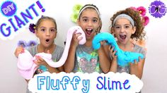 DIY GIANT FLUFFY SLIME!  NO BORAX, LIQUID STARCH OR DETERGENT!