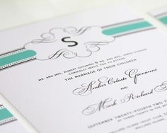 Vintage Wrap Wedding Invitations Sample in by shineinvitations, $6.50