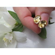 Citrine studs, Sterling Silver earrings, Semi precious gemstone studs,... ❤ liked on Polyvore featuring jewelry, earrings, birthstone earrings, gemstone earrings, birthstone stud earrings, sterling silver jewelry and wrap earrings
