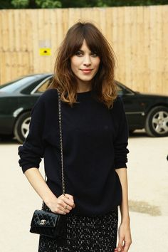 Alexa Chung seen arriving to the Chanel Fashion show during the Paris Fashion week in France.