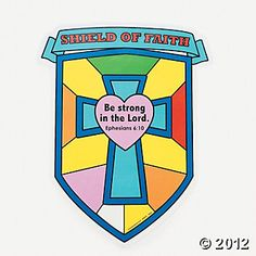 """Color Your Own """"Shield Of Faith"""" Cutouts"""