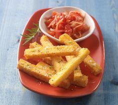 Wisconsin Parmesan-Polenta Fries with Tomato Marmalade