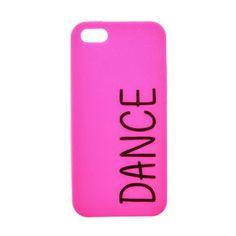 Coque pour téléphone rose à paillettes thème danse pour iPhone 5/5S