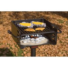 This durable, authentic park-style grill is made of heavyweight 3/16in. plate steel. The square firebox has 8in. sides and a 16in. x 16in. cooking surface. Optional tailgate post is also available (Item# 32571, sold separately). Made in U.S.A.