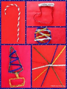 Decorations from Pipe cleaners - Teach Me Mommy
