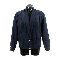 Vintage 80s 90s Black Cord Jacket by FannyAdamsVC on Etsy