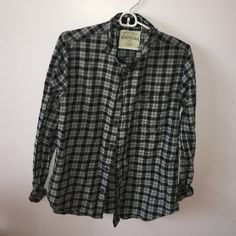 Vintage men's flannel Vintage flannel from Aeropostale. Size: Men's small. Colors: black and gray. Aeropostale Tops Button Down Shirts