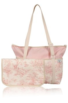 Original Diaper Bag Cotton Print Pink Black Green and by CYNGY, $81.00
