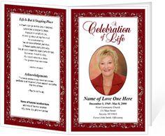 Funeral Programs: Regal Single Fold Bulletins Template