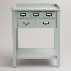 Gray 5-Drawer Preston Table | World Market