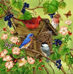 Jane Maday - birds