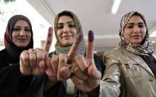 Being 'there' as history happened. Women in Iraq voting for the first time.