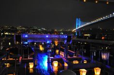 Reina - a popular night Club on the Bosphorus strait in Istanbul / Turkey